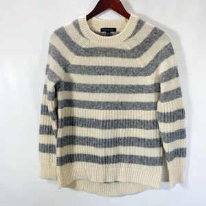 Banana Republic Sweater Crew Neck Wide Stripe HiLo